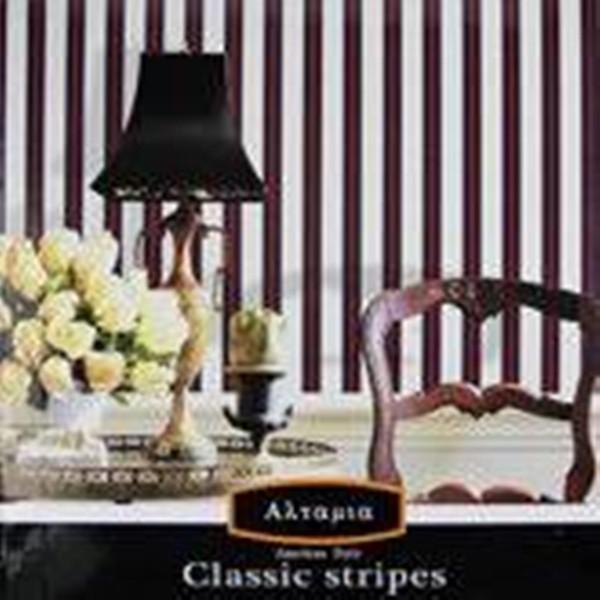 Papel de Parede Classic Stripes CT889003 Preto Listras