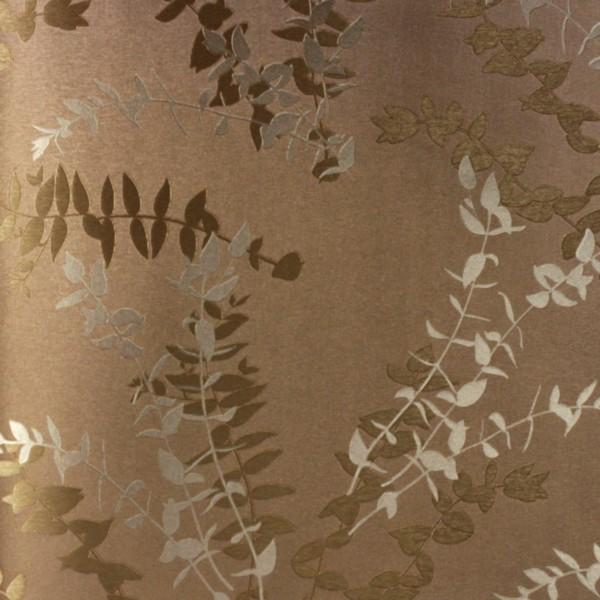 Papel de Parede Enchantment 121306 Folhagens Dourado