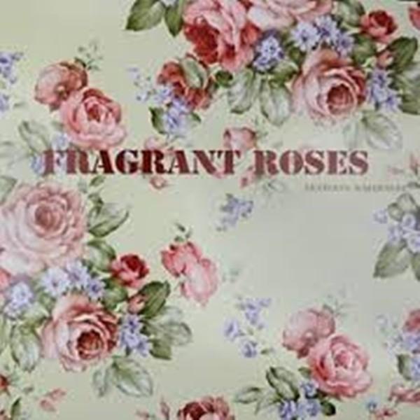Papel de Parede Fragrant Roses FA811041 Xadrez Azul