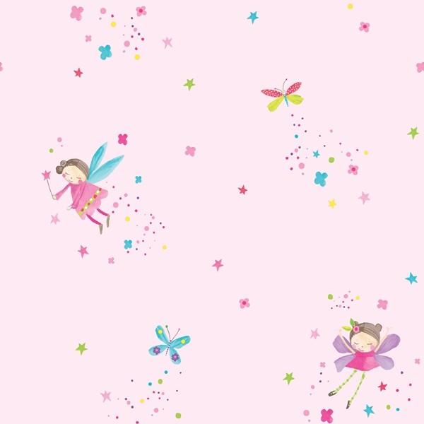 Papel de Parede FUN1 Infantil menina fadas glitter