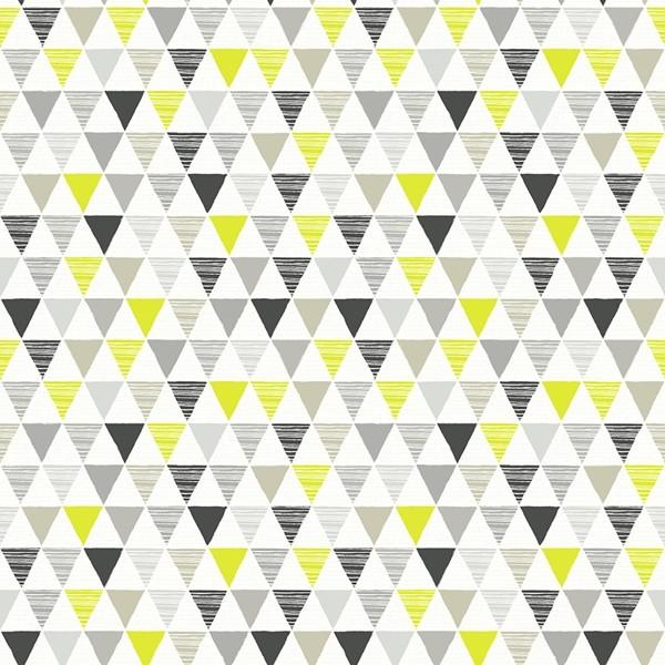 Papel de Parede FUN2 geométrico triângulos preto amarelo