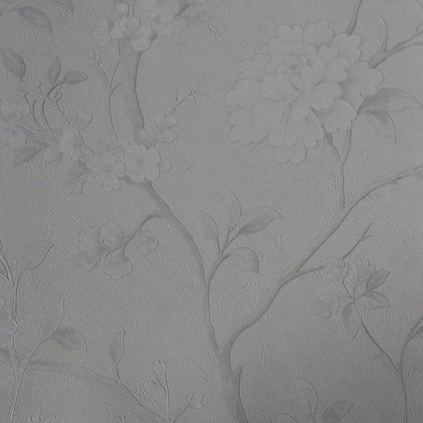 Papel de Parede Floral Gioia2 44827 Cinza Claro