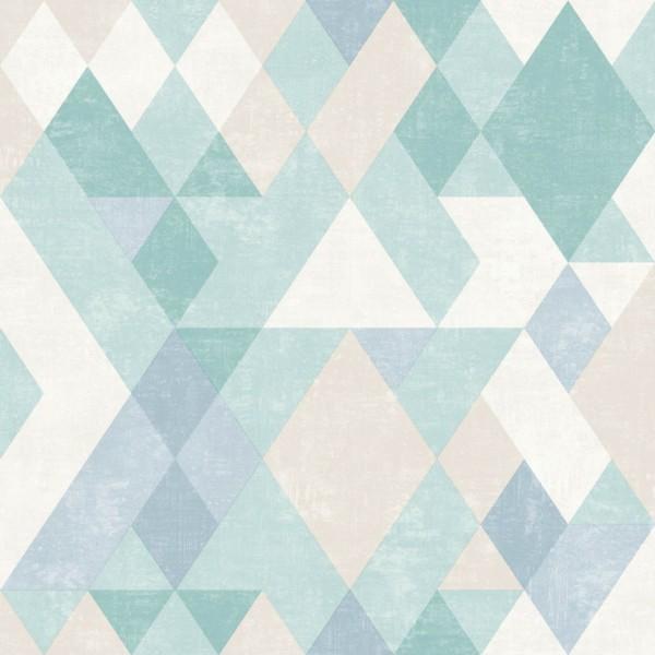 Papel de Parede Hexagone L59801 Geométrico Azul