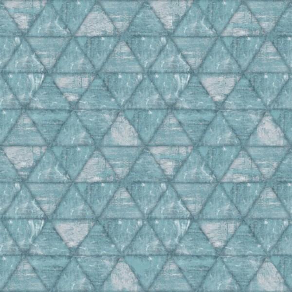 Papel de Parede Hexagone L61701 Geométrico Azul