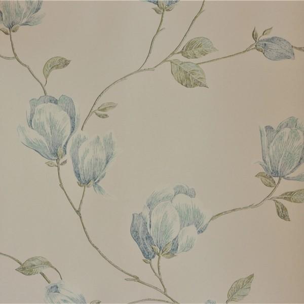 Papel de Parede Importado English Florals G34325 Floral Azul