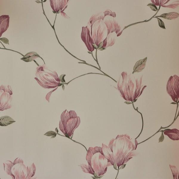 Papel de Parede Importado English Florals G34326 Floral Lilás