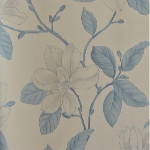 Papel de Parede Importado English Florals G67228 Floral Azul