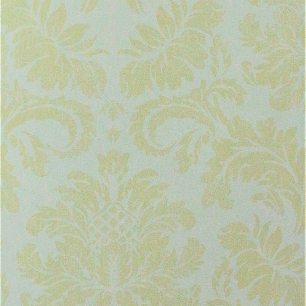 Papel de Parede Importado English Florals G67284 Adamascado Amarelo
