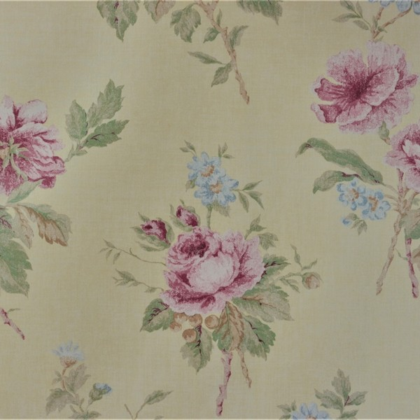 Papel de Parede Importado English Florals G67288 Floral Rosa