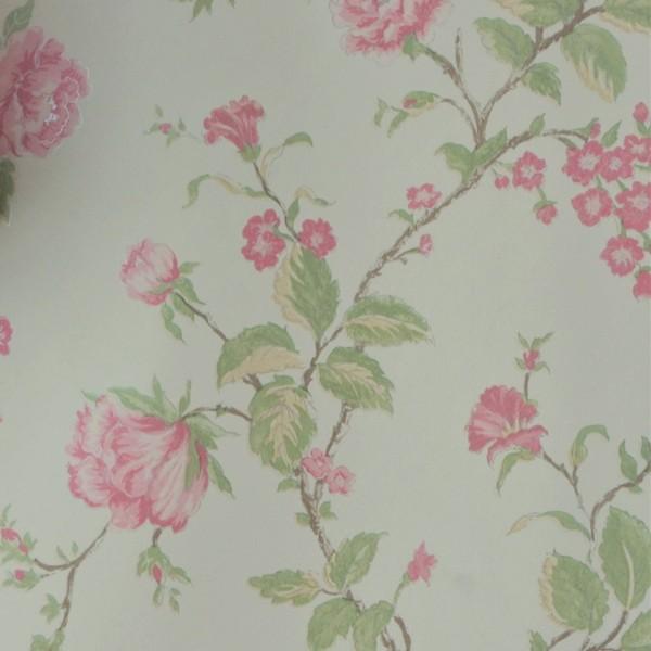 Papel de Parede Importado English Florals G67295 Floral Rosa