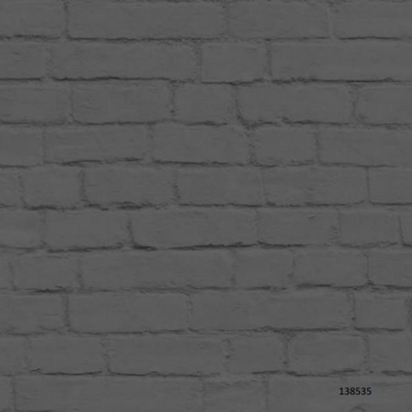 Papel de Parede estampa Tijolinho aparente Cinza