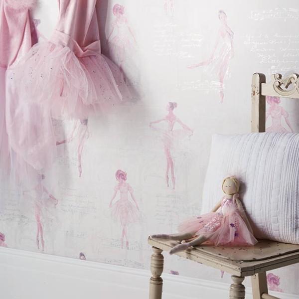 Papel de Parede Infantil quarto menina lindo bailarinas