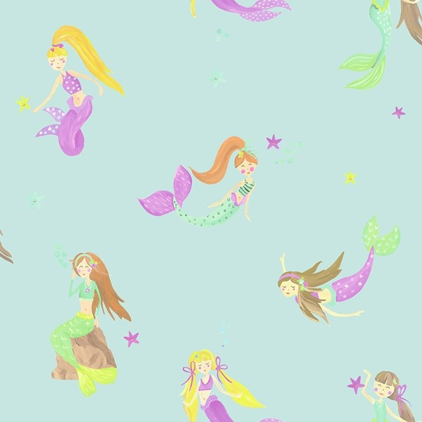 Papel de Parede Infantil IMAGINE FUN2 menina Sereia