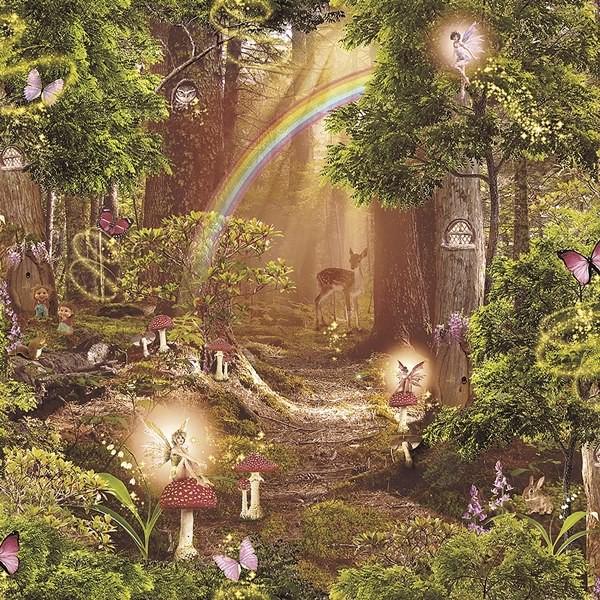 Papel de Parede Infantil FUN2 fadas floresta encantada
