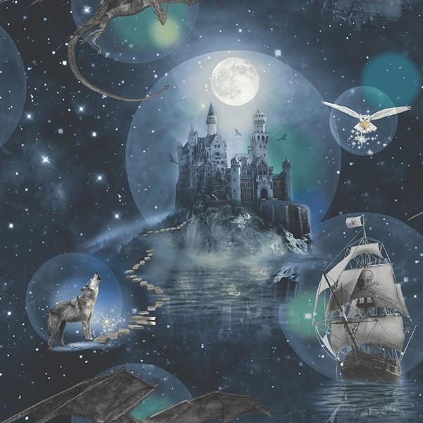 Papel de Parede Infantil FUN2 Sonhos Castelo tipo Harry Potter