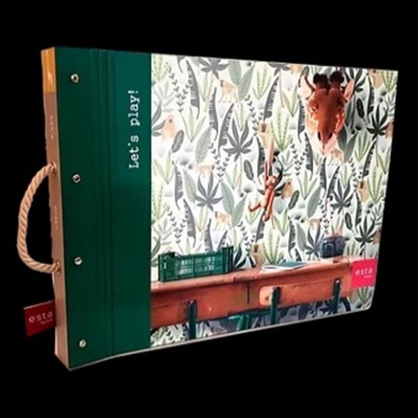 Papel de Parede quarto Infantil LETS P coleção Safari girafas selva