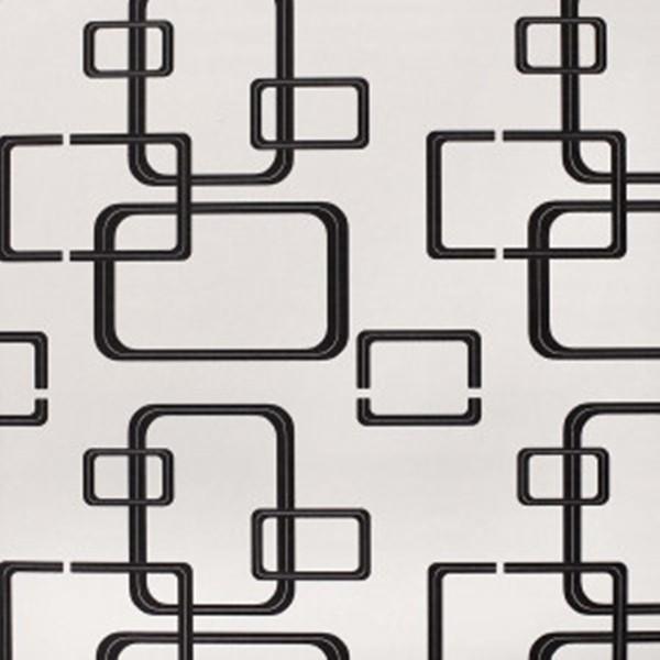 Papel de Parede quarto sala Geométrico retângulos preto e branco