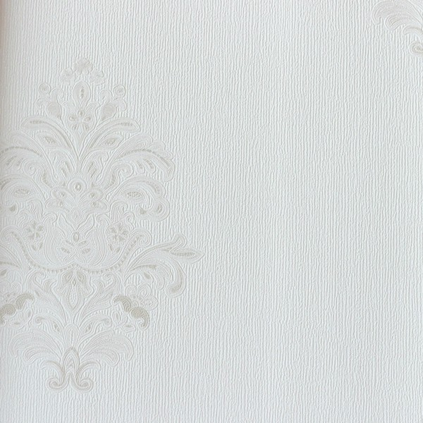 Papel de Parede Italiano Vita B1050401 Adamascado Off White