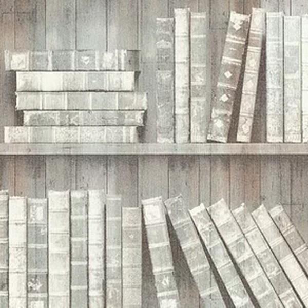 Papel de Parede Loft 22223 Livros Marrom