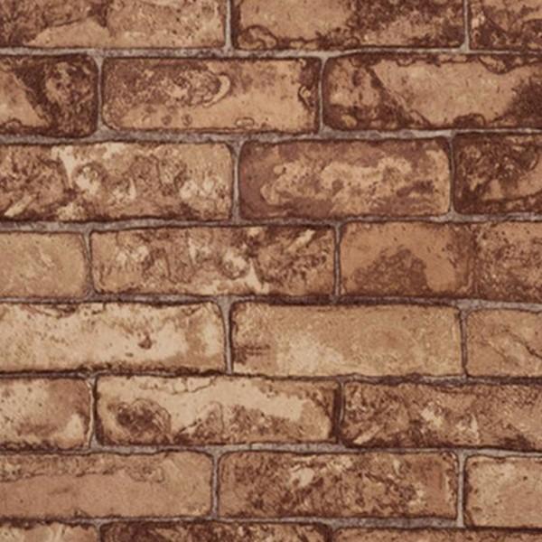 Papel de Parede Modern Rustic 122204 Tijolinho Marrom