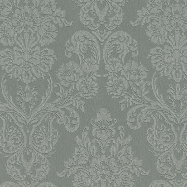 Papel de Parede quarto sala Adamascado tipo tecido tapete textura relevo cinza