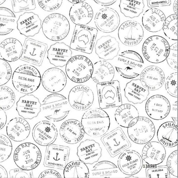 Papel de Parede tema náutico selos casa de praia mar