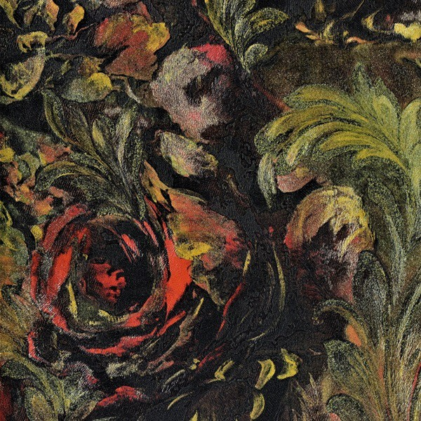 Papel de Parede Roberto Cavalli Rosas tipo pintura à óleo textura
