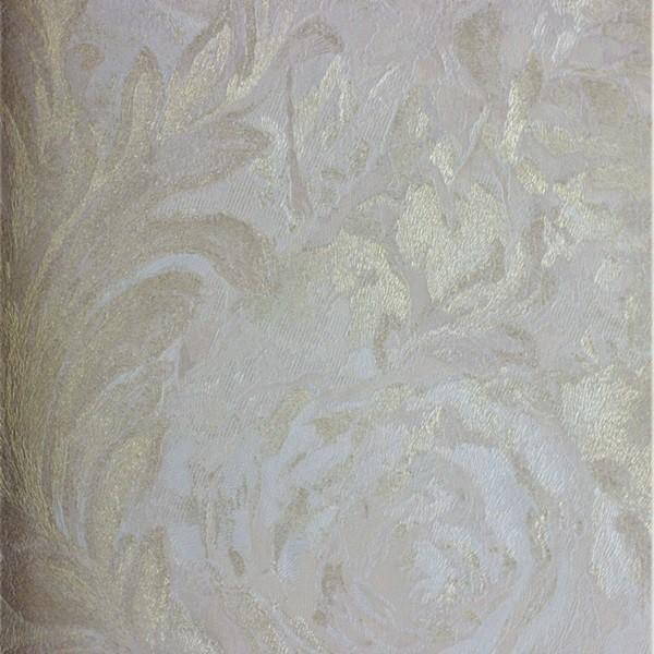 Papel de Parede Roberto Cavalli Rosas em relevo e textura com brilho