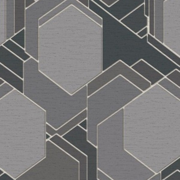 Papel de Parede quarto sala geométrico Cinza