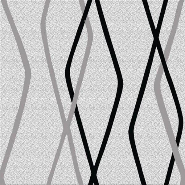 Papel de Parede Romariz  Geométrico Preto Branco 09C9101