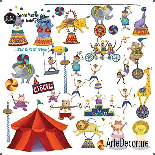 RoomMates Adesivo Parede Circo RMK1266