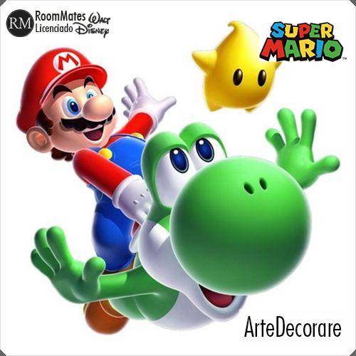 RoomMates Adesivo Parede  Mario e Yoshi RMK883