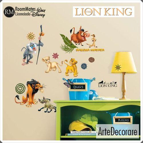 RoomMates Adesivo Parede  O Rei Leão Personagens RMK1921