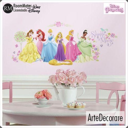 RoomMates Adesivo Parede  Princesas RMK1903