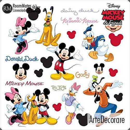 RoomMates Adesivo Parede Turma do Mickey RMK1507