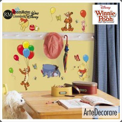 RoomMates  Ursinho Pooh e Amigos RMK1498