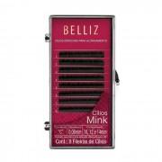 Cílios Postiços para Alongamento Mink C 0,06 10, 12, 14mm Belliz
