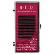 Cílios Postiços para Alongamento Mink C 0,15 10mm Belliz