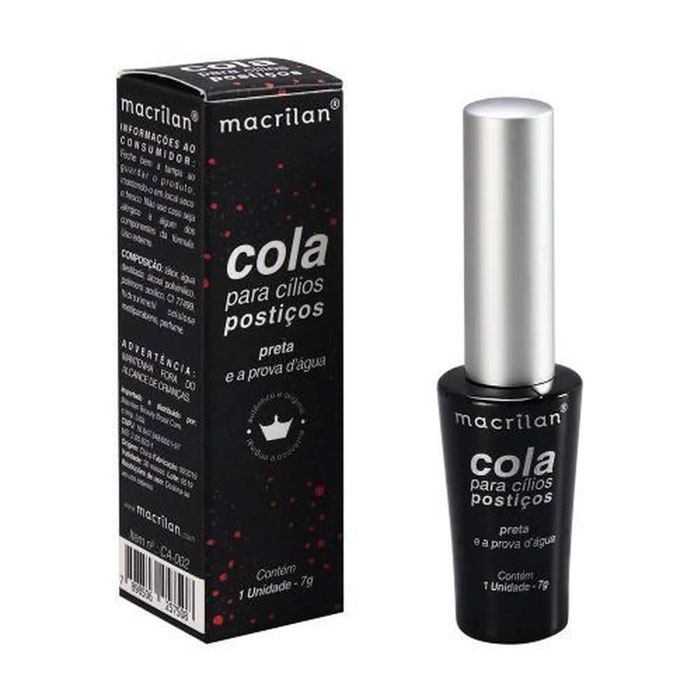 Cola para Cílios Postiços Preta Macrilan 7g
