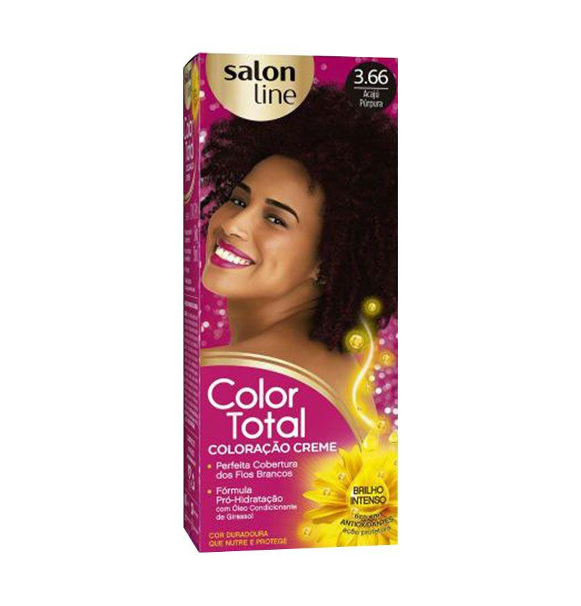 Coloração Creme Color Total Salon Line Acajú Púrpura 3.66