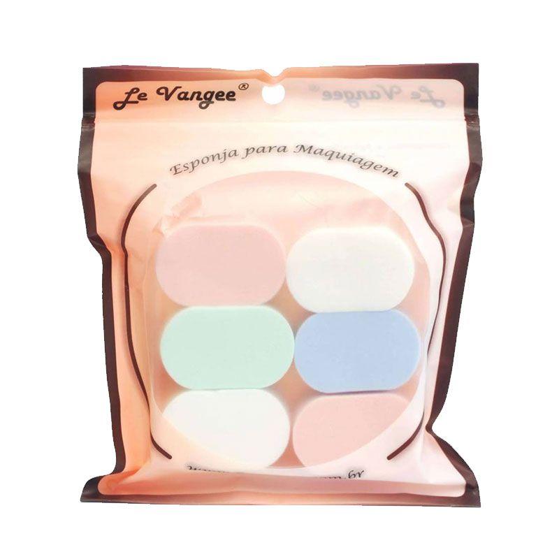 Esponja para Maquiagem Oval 6 Peças 54029 Le Vangee