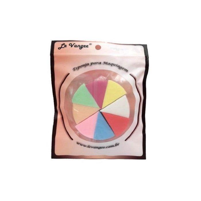 Esponja para Maquiagem Pizza 8 Peças 54027 Le Vangee