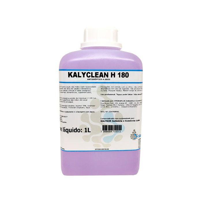 Kalyclean H 180 Antisséptico a Seco Álcool 70 Uso Profissional 1L
