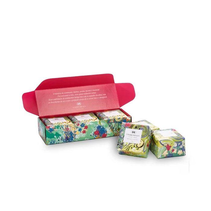 Kit Sabonetes em Barra Vegetal Floral Limão Madressenza 3 x 115g