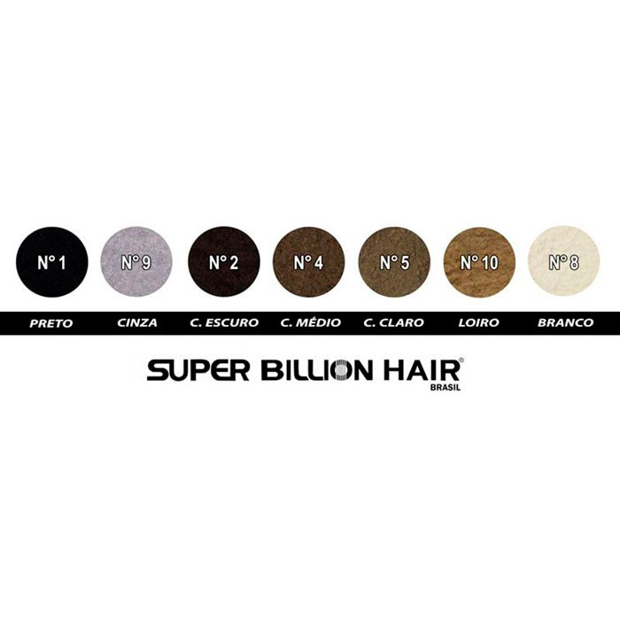 Kit Super Billion Hair Fibras de Queratina 25g Slim + Aplicador + Shampoo Antiqueda 200ml + Spray Fixador 120ml + Brinde