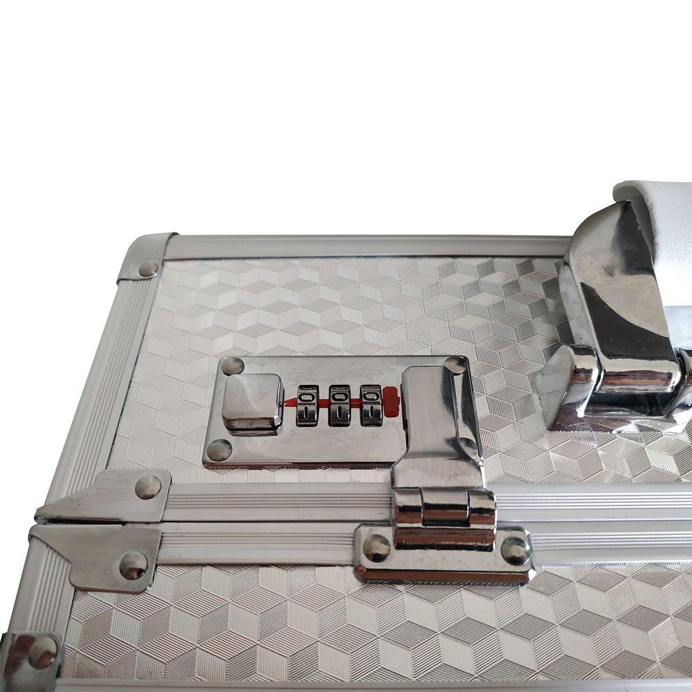 Maleta de Alumínio para Maquiagem e Acessórios Huymay