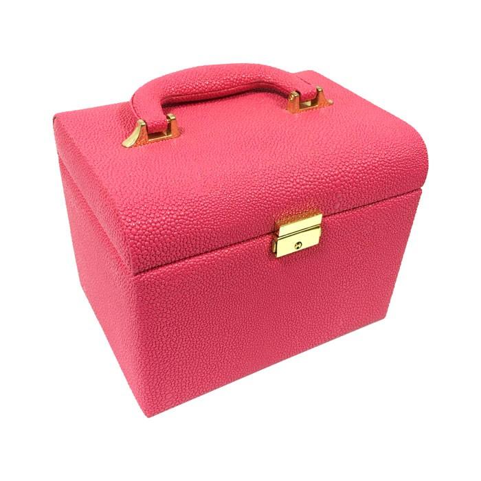 Maleta de Maquiagem Couro Sintético Pink B & G