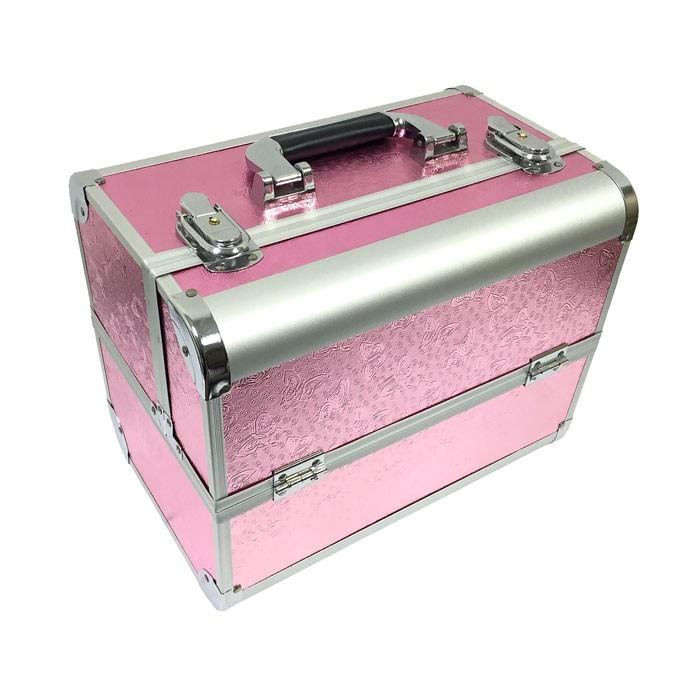 Maleta de Maquiagem Rosa Borboleta B & G