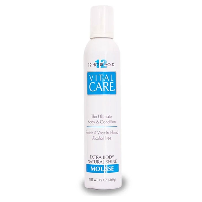 Mousse Extra Body Natural Shine 12Hour Hold Vital Care 340g
