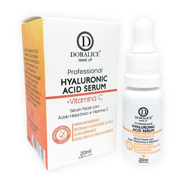 Sérum Ácido Hialurônico com Vitamina C Doralice Make Up 20ml
